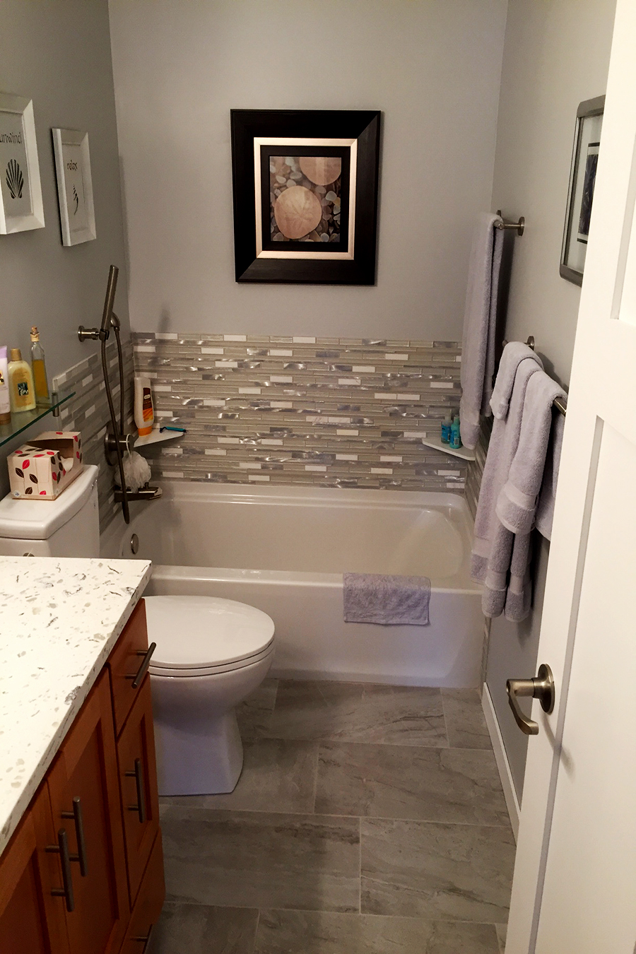 Bathroom remodeling gallery lake to lake construction - Half bath remodel ideas ...
