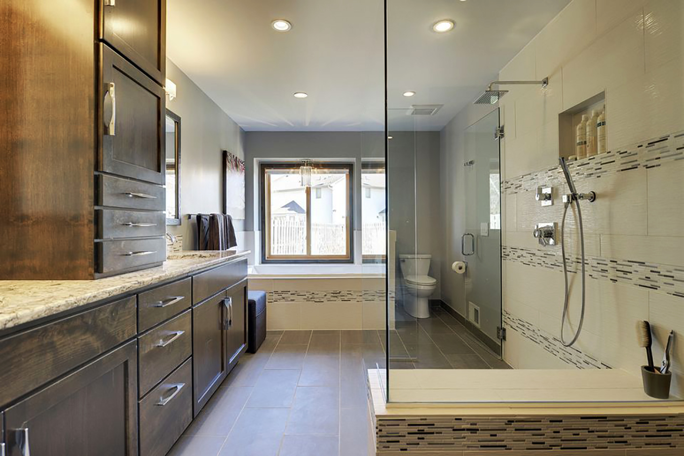 View Our Bathroom Remodeling Project Photos Master Bath Walk In Shower Surround