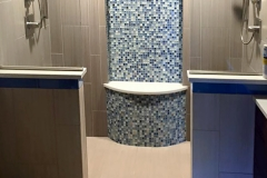 Dual Shower with Tiled Shelf