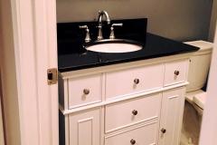 Finished Basement Bath Remodel Underlit Vanity