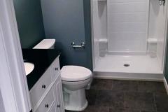 Finished Basement Bathroom Underlit Vanity