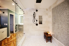 Showerhead-Tiled-Bathroom-Sliding-Glass-Door