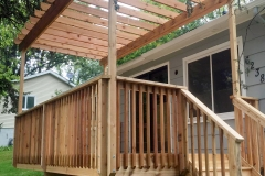 Cedar Deck With Overhang Finished