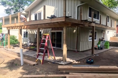 Exterior Deck Project In Progress