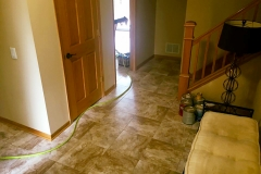 Finished Tile Entryway