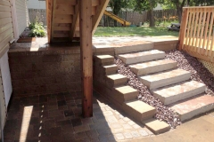 Stonework Landscape Retaining Wall & Stairs